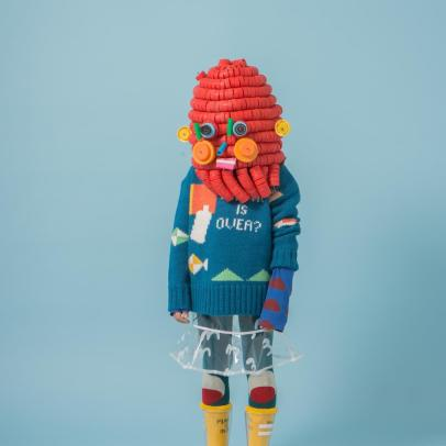Bobo Choses Pullover Lana Plastic Is Over-listing