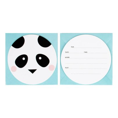 My Little Day Cartons d'invitations, envelopes et stickers Animaux - Lot de 8-listing