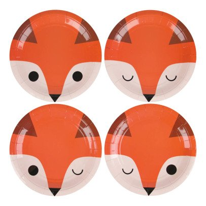 My Little Day Mini Fox Paper Plates - Set of 8-listing