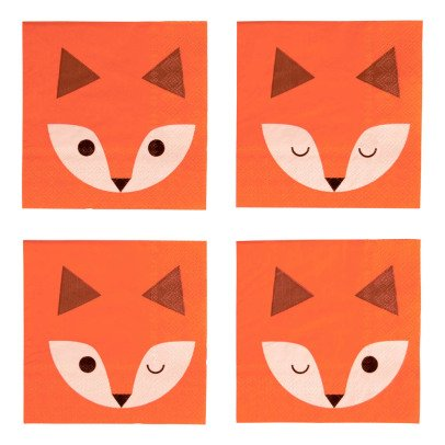 My Little Day Serviettes en papier Mini fox - Lot de 20-listing