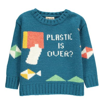 Bobo Choses Plastic Is Over Wool Jumper-listing