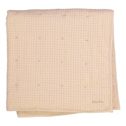 Louis Louise Cocon Lurex Gold Checked Blanket-listing