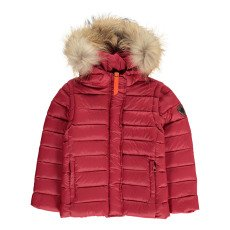 product-Gertrude + Gaston Little Olga Fur Hooded Down Jacket With Removable Sleeves