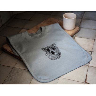 Moumout Baloo Print Sweat Bib-product