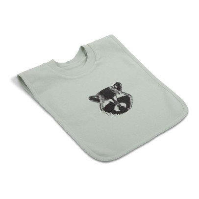 Moumout Raccoon Print Sweat Bib-listing