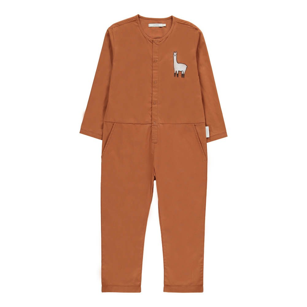 Sale - Embroidered Llama Jumpsuit - Tinycottons Tiny Cottons Cheap Sale Outlet Store Clearance Affordable Discount Fake Discount Pay With Paypal O8CmYk4n