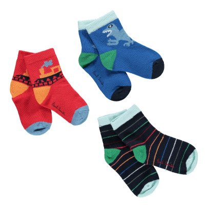 Paul Smith Junior Plutarque Socks - Set of 3 pairs-listing