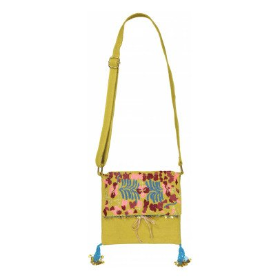 Louise Misha Ouzzom Embroidered Pompom Bag-listing