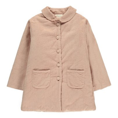 Louis Louise Claudie Ribbed Velvet Coat-listing