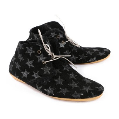 Anniel Glitter Star Fur Lined Ankle Boots-listing