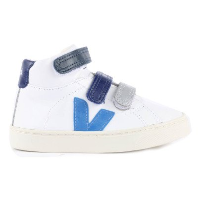 Veja Esplar Leather Tricolour Velcro High-Top Trainers-listing