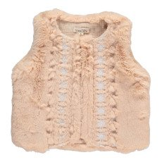 product-Louise Misha Aquilon Embroidered Faux Fur Gilet