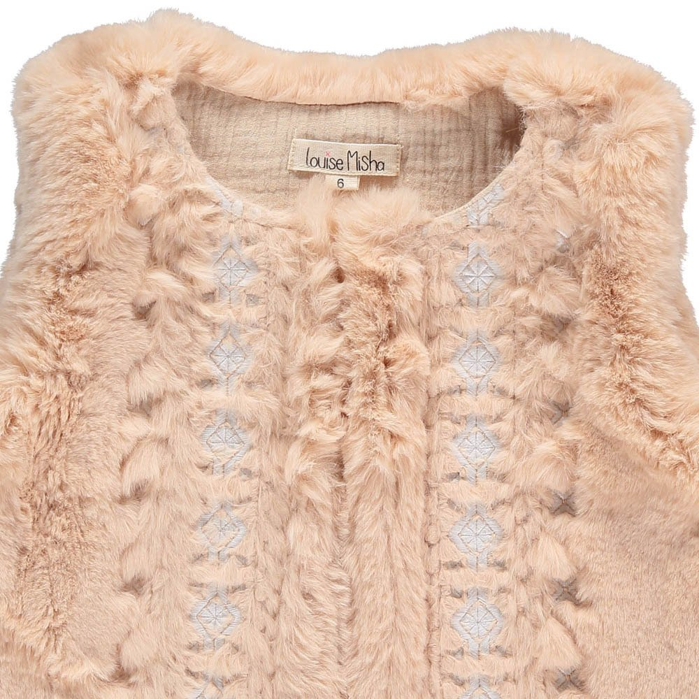 Aquilon Embroidered Faux Fur Gilet-product