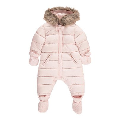Tartine et Chocolat Faux Fur Hooded Girl's Snowsuit-listing