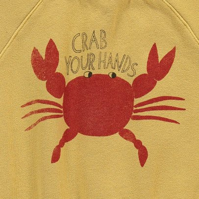 Bobo Choses Organic Cotton Short Sleeve Crab Sweatshirt-listing
