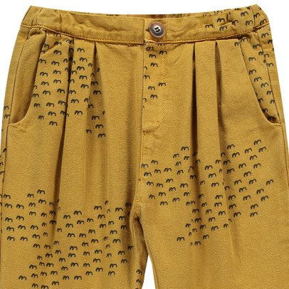 Bobo Choses Organic Cotton Pleat Trousers-listing