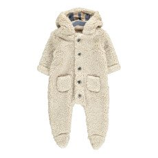 product-De Cavana Faux Fur Hooded Jumpsuit