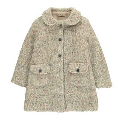 De Cavana Flecked Peter Pan Collar Coat-listing