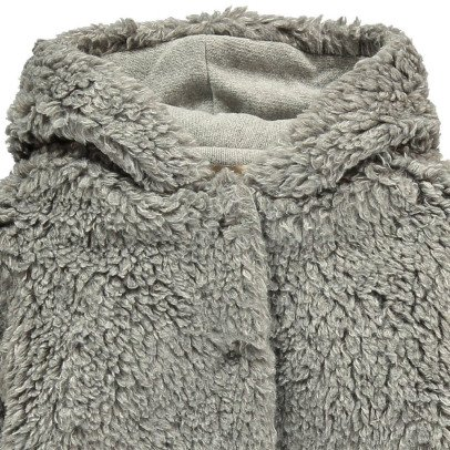 De Cavana Faux Fur Hooded Coat-listing