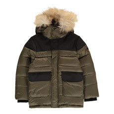 product-Gertrude + Gaston Little Henry Fur Hooded Down Jacket With Removable Sleeves
