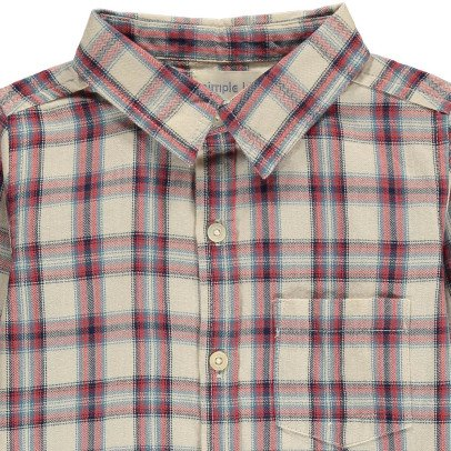 Simple Kids Boy Checked Shirt-listing