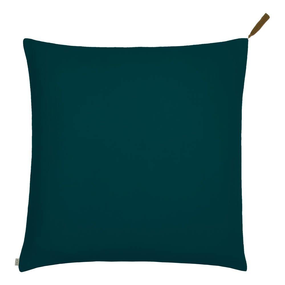 Embroidered LIV INTERIOR Cushion Cover Plum//Cream//Petrol