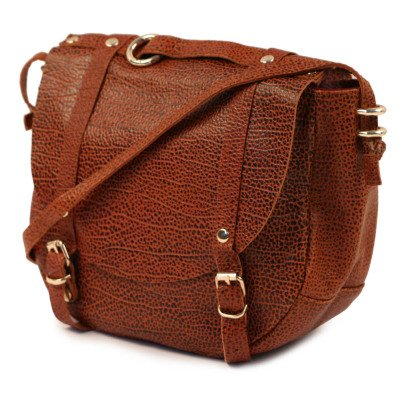 Craie Adjustable Reversible Round Leather Saddlebag-listing