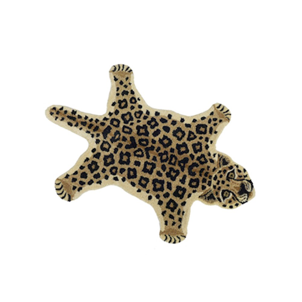 Leopard rug multicoloured smallable home design adult for Teppich vitra