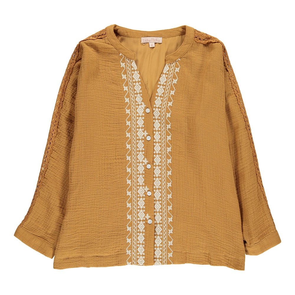 Assa Embroidered Button-Up Blouse - Teen & Women's Collection-product