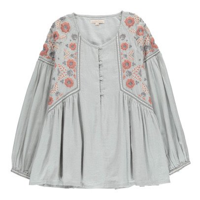 Louise Misha Mesifa Embroidered Flower Blouse - Teen & Women's Collection-listing