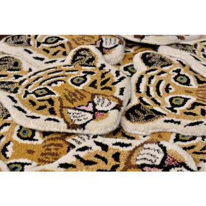 Smallable Home Tappeto testa di leopardo 32x32 cm -listing