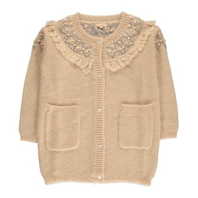 Louise Misha Kylle Embroidered Merino Wool & Mohair Cardigan - Teen & Women's Collection-listing