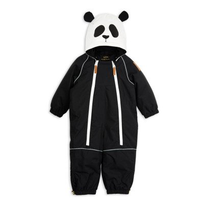 Mini Rodini Double Zip Hooded Panda Snowsuit-listing