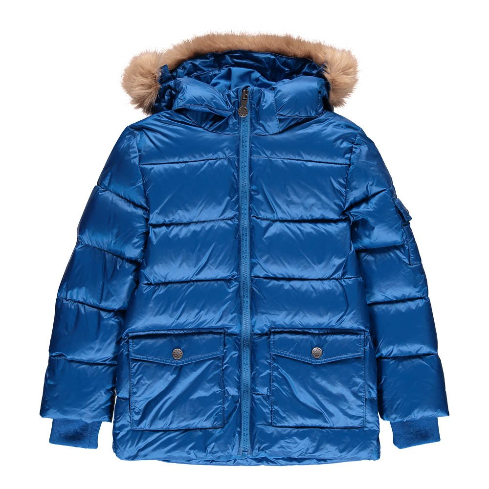 Faux Fur Mat Authentic Down Jacket-product