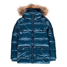 product-Pyrenex Shiny Authentic Fur Down Jacket