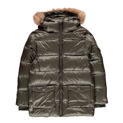 Pyrenex Faux Fur Mat Authentic Down Jacket-listing