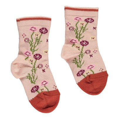 Gold Floral Socks-listing