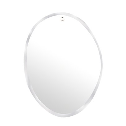 M Nuance Extra Flat Bevelled Mirror - Rough Oval Shape 50x66cm-listing