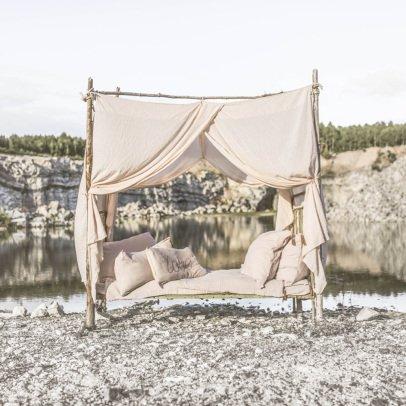 Ciel de lit enzo en coton organique rose liewood design enfant - Ciel de lit baldaquin ...