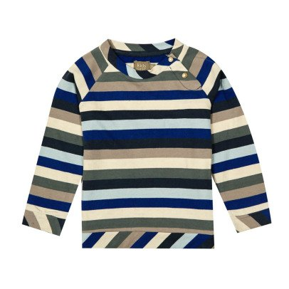 Kidscase Star Organic Cotton Striped T-Shirt-listing