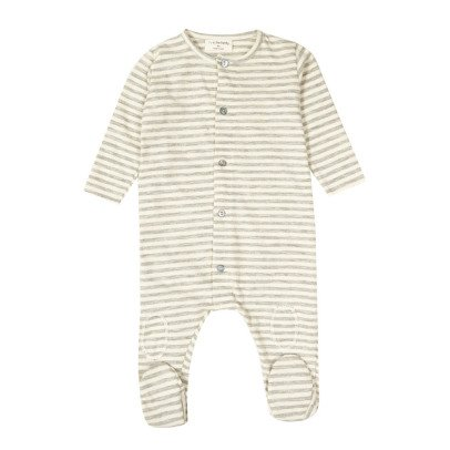 1+ IN THE FAMILY Pol Striped Babygrow-listing
