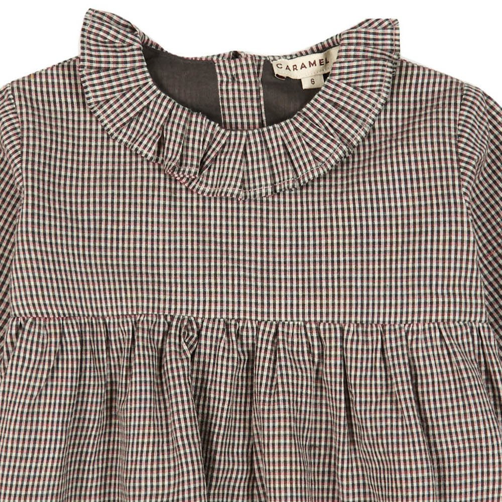 Dilston Ruffled Collar Micro Checked Dress-product