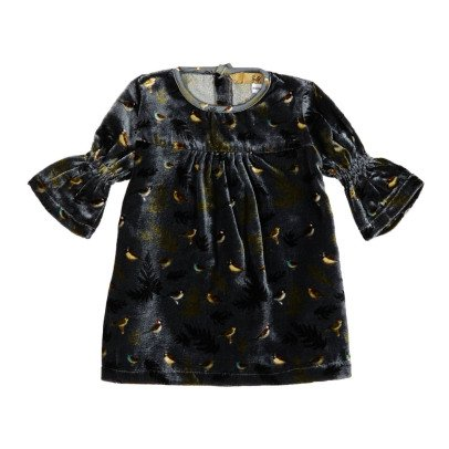 Gold Kolifa Velvet Bird Dress-listing