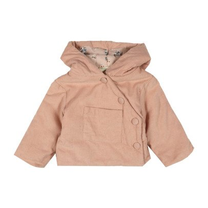Louis Louise Ice Cream Ribbed Velvet Coat-listing
