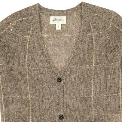 Hartford Mosaic Wool and Mohair Cardigan-product