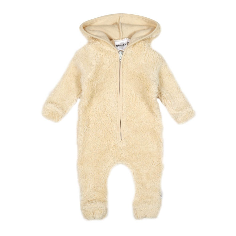 Otto Sheepskin Effect Hooded Jumpsuit With Zip-product