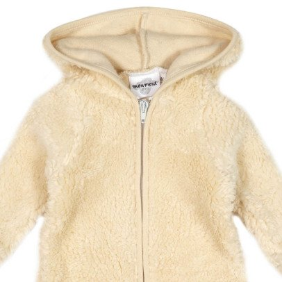 Moumout Otto Sheepskin Effect Hooded Jumpsuit With Zip-listing