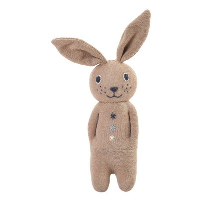 Anne-Claire Petit Cotton Jersey Rabbit Soft Toy With Bell-listing