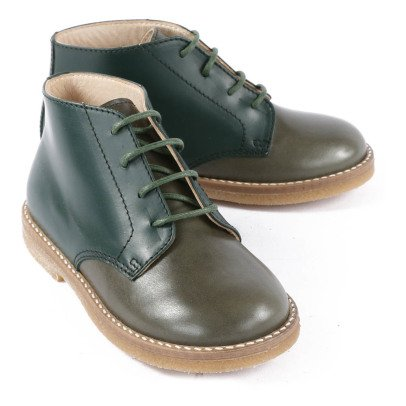 Gallucci Two-Tone Leather Ankle Boots-listing