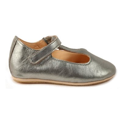 Easy Peasy Iridescent Leather Velcro Mary-Janes-listing